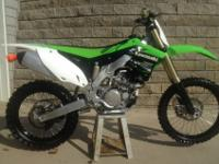 Excellent condition 2013 kawasaki 450 never raced rode