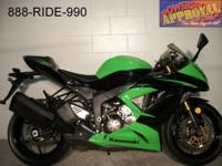 2013 Kawasaki Ninja 636 for sale with only 834 miles!