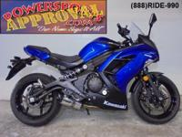 2013 Kawasaki Ninja 650R for sale with only 1,854