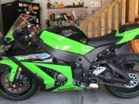2013 Kawasaki Ninja ZX-10R, 200 miles, Exterior: Green,