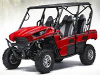 2013 KAWASAKI TYREX 4 SEATER. SUNBURST RED. WE JUST