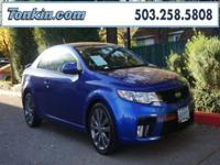 WOW!!! Check out this. 2013 Kia Forte Koup SX Blue 2.4L