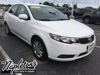 Recent Arrival! 2013 Kia Forte in Clear White,