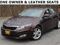 One Owner.., Optima EX.., Power Leather Seats.., Text