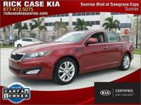2013 Kia Optima EX in Red, Roadside Assistance, 10 year