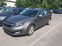 Clean CARFAX. Titanium Metallic 2013 Kia Optima LX FWD
