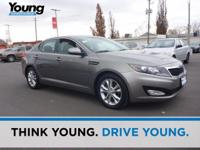 Clean CARFAX. Silver 2013 Kia Optima LX FWD 6-Speed