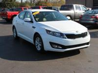 New Price! This 2013 Kia Optima LX in Snow White Pearl