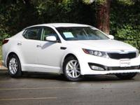 Options:  2013 Kia Optima Lx|Snow White Pearl/Beige|V4
