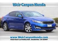 CARFAX One-Owner. Clean CARFAX. Blue 2013 Kia Optima SX