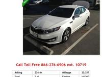 2013 Kia Optima SX Snow White Pearl V4 2.0L Gas FWD AIR