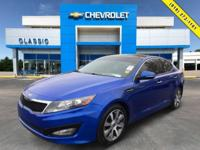 Blue 2013 Kia Optima SX FWD 6-Speed Automatic with