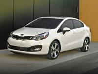 Options:  2013 Kia Rio Lx|Black|Carfax One-Owner. Clean
