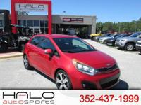 2013 KIA RIO SX 5 DOOR HATCHBACK- MANUAL TRANSMISSION