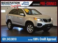 New Price! Bright Silver 2013 Kia Sorento LX AWD