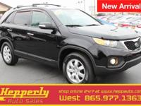 Clean CARFAX. This 2013 Kia Sorento LX in Ebony Black