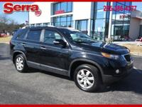 New Price! Ebony Black 2013 Kia Sorento LX FWD 6-Speed