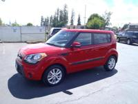 CARFAX One-Owner. 2013 Kia Soul Plus Red One Owner,