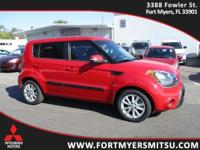 2013 Kia Soul Plus in Molten Red, *AutoCheck Accident