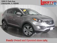 CARFAX One-Owner. Mineral Silver 2013 Kia Sportage EX