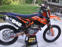 2013 KTM SXF 350 with less than 18 hours on the bike.