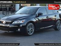 This 2013 Lexus CT 200h 4dr 5dr Sedan Hybrid features a