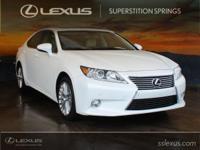 Clean CARFAX. 2013 Lexus ES 350 3.5L V6 DOHC Dual VVT-i