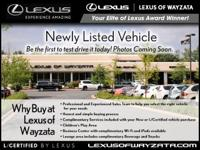 L/CERTIFIED BY LEXUS! Equipped with Navigation, Back Up