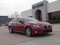 EPA 28 MPG Hwy/19 MPG City! GS 350 trim. NAV, Sunroof,