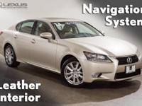 AWD, Flaxen Leather, 2013 Lexus GS 350, Power Rear