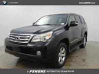 CARFAX 1-Owner. GX 460 trim. Moonroof, Third Row Seat,