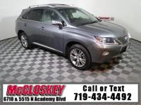 Very Low Miles on this beautiful 2013 Lexus RX 350!
