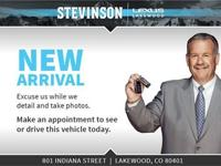 Certified. CARFAX One-Owner. Clean CARFAX. Stevinson