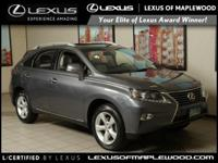 EPA 24 MPG Hwy/18 MPG City! RX 350 trim. CARFAX