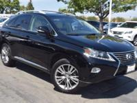 Clean CARFAX. BLACK 2013 Lexus RX 350 AWD Automatic