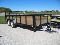 "5x8 utility trailer, 3K, 3500# axle, 30"" 3-board sides,"