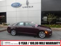 ***LINCOLN CERTIFIED PRE-OWNED***6 YEAR/100,000 MILE