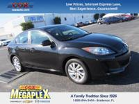 This ONE OWNER, 2013 Mazda3 Grand Touring in Black Mica