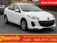 Clean CARFAX. This 2013 Mazda Mazda3 i in Crystal White