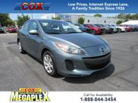 This 2013 Mazda3 i in Dolphin Gray Mica is well