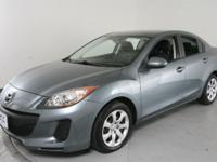 Clean CARFAX. Gray 2013 Mazda Mazda3 i SV FWD 5-Speed