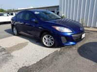 CARFAX One-Owner. Clean CARFAX. Blue 2013 Mazda Mazda3