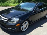 2013 Mercedes C250 Coupe 22,068 Miles Black Exterior /