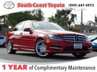 Red 2013 Mercedes-Benz C-Class C 250 RWD 7G-TRONIC PLUS