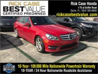 Recent Arrival! Red 2013 Mercedes-Benz C-Class C 250