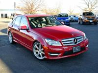 Red 2013 Mercedes-Benz C-Class C 300 4MATIC 7G-TRONIC