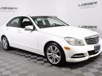 A GREAT BUY ON A MB CERTIFIED 2013 C300 4MATIC. WHITE