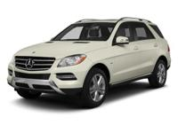 2013 CERTIFIED PRE OWNED ML350 4MATIC .... ARCTIC WHITE