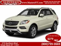 This Lovely White 2013 Mercedes-Benz ML350 4Matic Sport