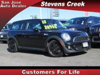 Options:  2013 Mini Cooper Clubman Clubman S|Black|1.6L
